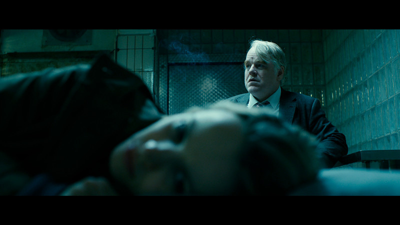 """. This photo provided by the Sundance Institute shows Philip Seymour Hoffman, right, and Rachel McAdams, front, in a scene from the film, \""""A Most Wanted Man,\"""" which premiered at the 2014 Sundance Film Festival. After appearing in over 50 movies, 46-year-old Hoffman says working on �A Most Wanted Man� was one of the most satisfying movie-making experiences he�s had. (AP Photo/Sundance Institute)"""