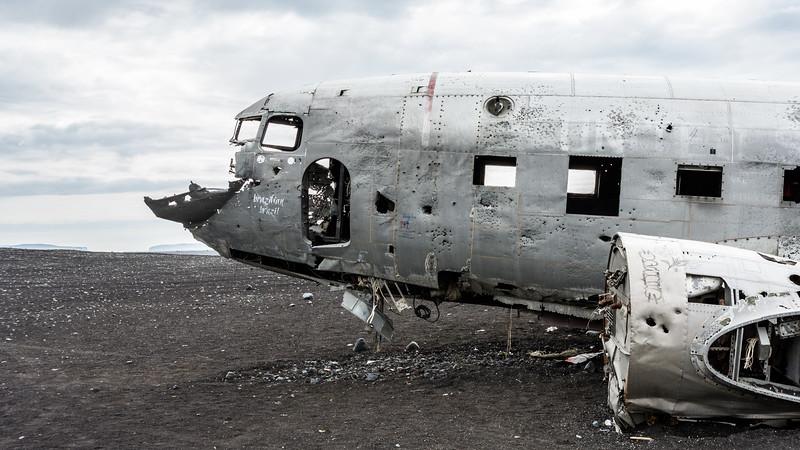Plane Wreck, DC3, Iceland