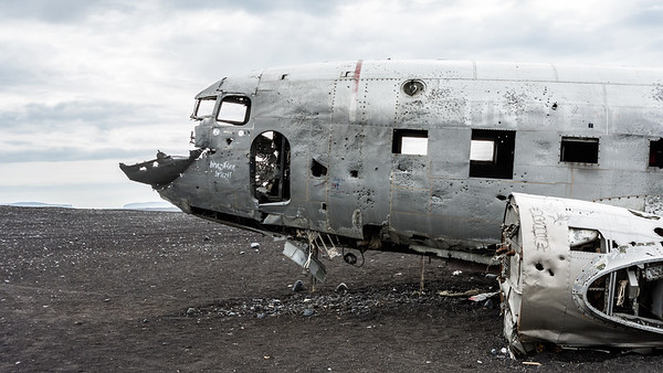 Plane Wreck, DC3, Iceland