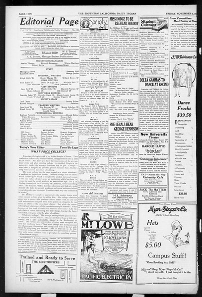 Daily Trojan, Vol. 17, No. 38, November 06, 1925