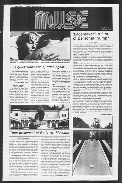 Daily Trojan, Vol. 72, No. 56, December 13, 1977