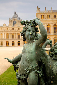 Sculpture near the Water Parterres at Versailles.