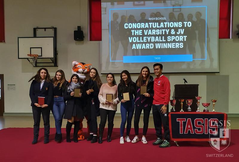 Girls Volleyball Award Winners