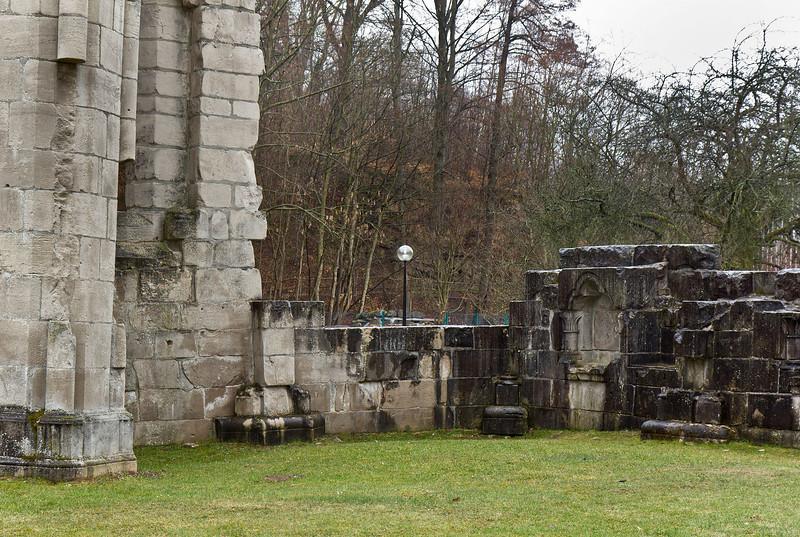 Walkenried, Klosterkirche. Südl. Außenmauer des Chors