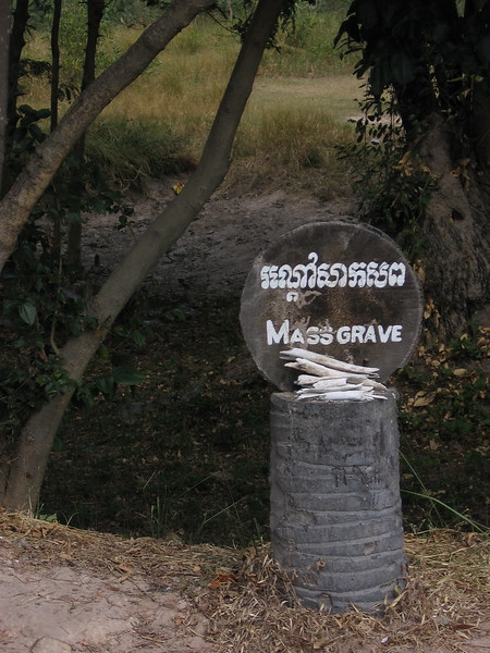 Sign at The Killing Fields