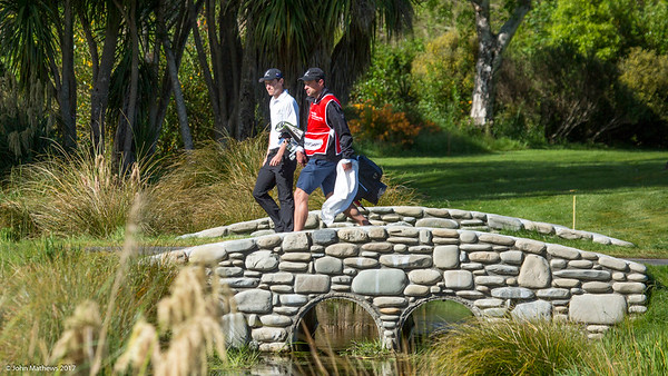 Kerry Mountcastle from New Zealand hitting a ball on the 7th hole on the 2nd day of competition  in the Asia-Pacific Amateur Championship tournament 2017 held at Royal Wellington Golf Club, in Heretaunga, Upper Hutt, New Zealand from 26 - 29 October 2017. Copyright John Mathews 2017.   www.megasportmedia.co.nz