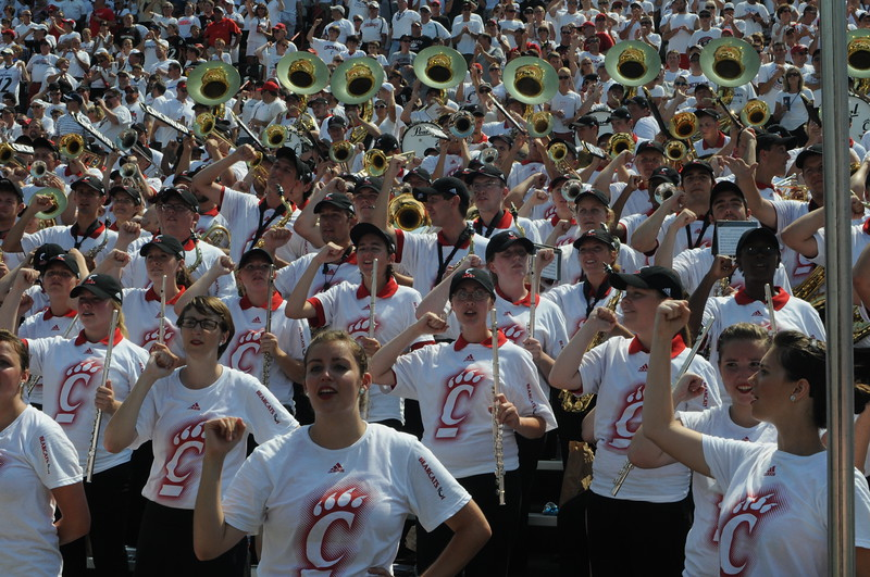 UC Band_UC vs Purdue_Nippert Stadium_Cincinnati, OH_08-31-2013
