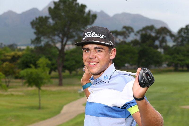 STELLENBOSCH, SOUTH AFRICA - OCTOBER 2: Garrick Higgo during the held at Stellenbosch Golf Club on October 2, 2018 in Stellenbosch, South Africa. EDITOR'S NOTE: For free editorial use. Not available for sale. No commercial usage. (Photo by Carl Fourie/Sunshine Tour)