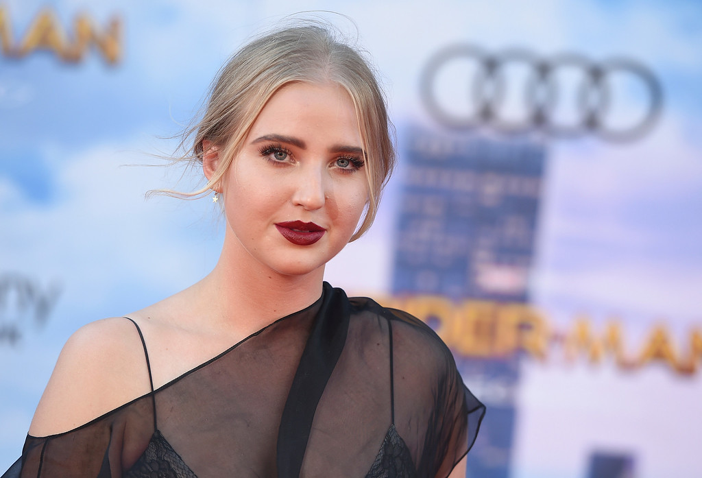 """. Veronica Dunne arrives at the Los Angeles premiere of \""""Spider-Man: Homecoming\"""" at the TCL Chinese Theatre on Wednesday, June 28, 2017. (Photo by Jordan Strauss/Invision/AP)"""