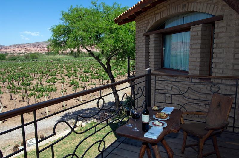 Almuerzo con vista a las viñas, Salta, Argentina