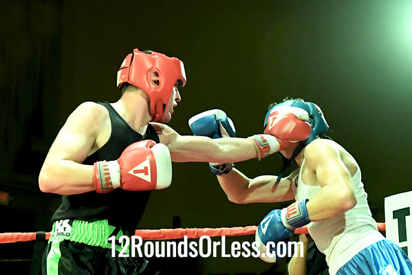 Bout 8 Elhan Nevadi, Blue Gloves, Empire BC, Cleveland -vs- Zi Stalnaker, Red Gloves, Rodriguez BC, Akron, 141 Lbs, The War Championship