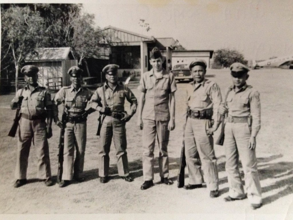 . Airman First Class Roland Morgan, center, in the Philippine. Morgan served in the Air Force from 1959-1963. (Courtesy photo)