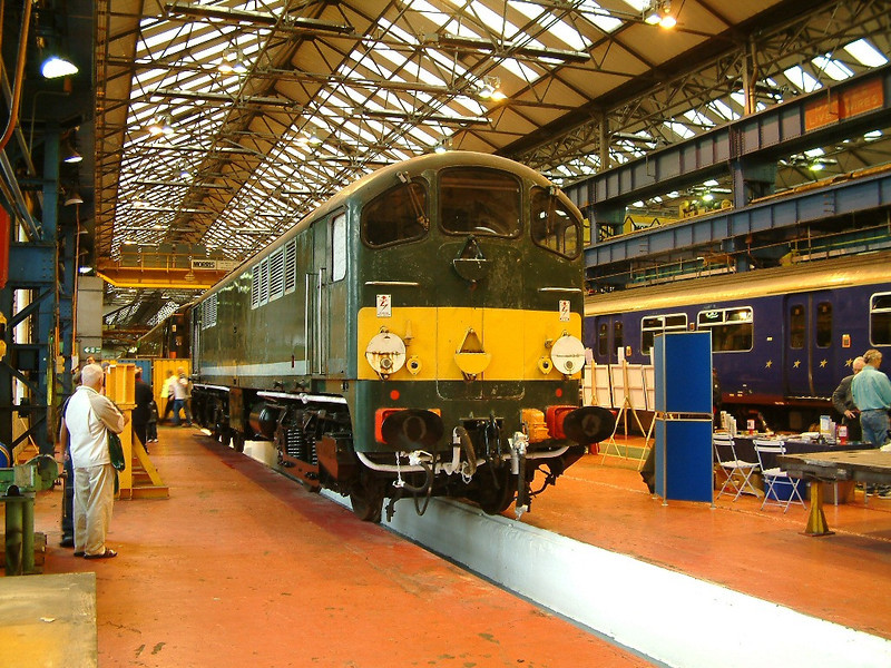 D5705 awaits the attentions of it's owners at Crewe Works on the 10th September 2005