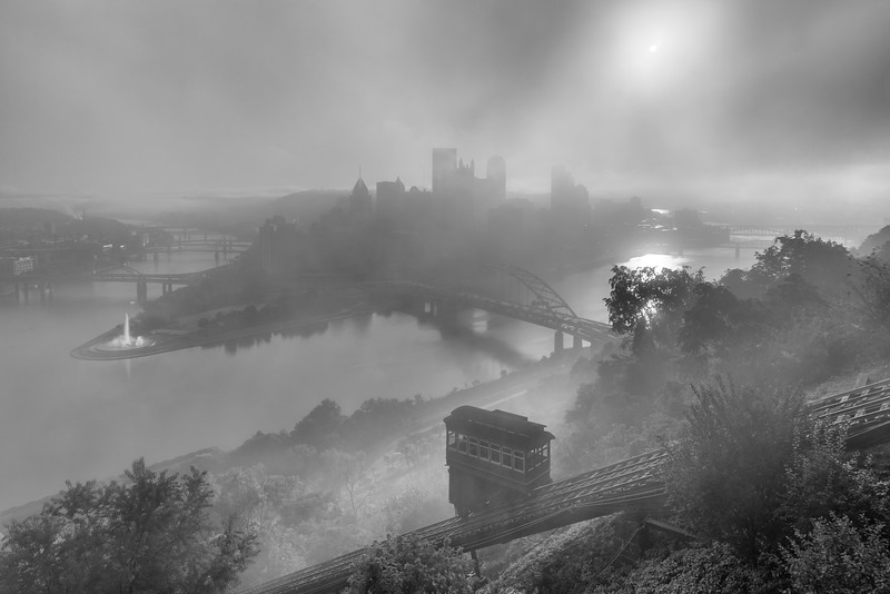 """In A Haze"" - Pittsburgh, Mount Washington   Recommended Print sizes*:  4x6  