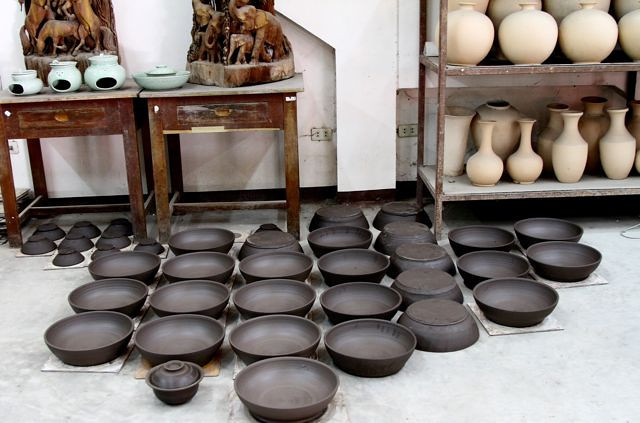 Greenware air drying and getting ready for the kiln