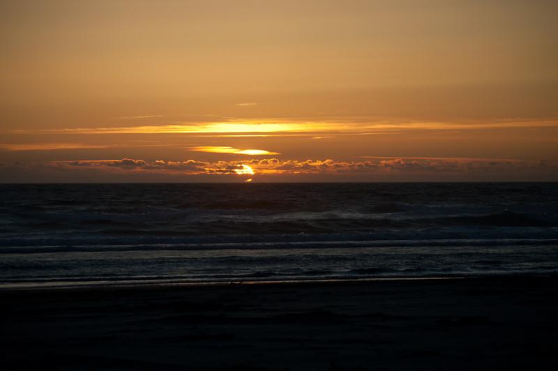 Sun setting.