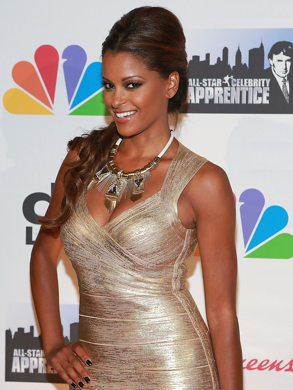 """. Actress Claudia Jordan attends \""""All Star Celebrity Apprentice\"""" Finale at Cipriani 42nd Street on May 19, 2013 in New York City.  (Photo by Robin Marchant/Getty Images)"""