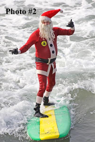 Surfing Santa 12.13.2016 North Side Hermosa Pier