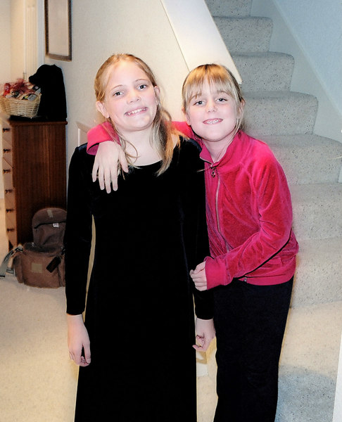 Emily and Elena, Christmas Eve 2005
