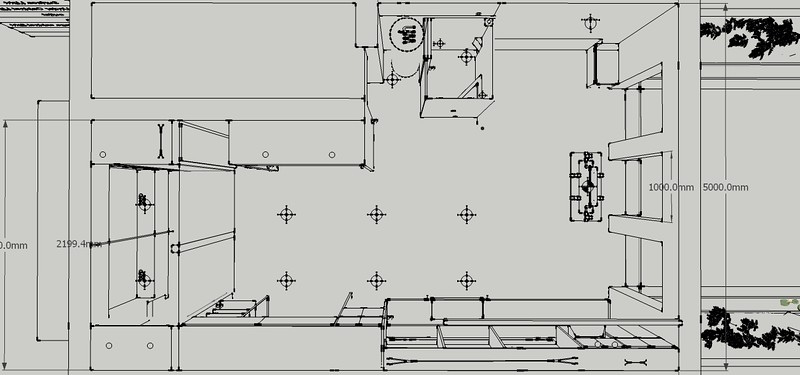 Electrical plan for ISd project 5 the Studio