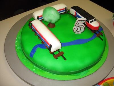 Eli's Amtrak Train Cake