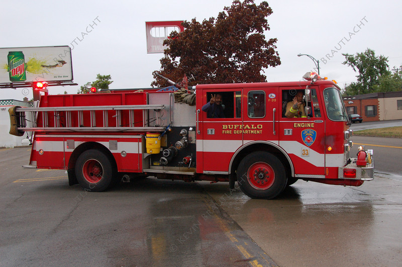 Buffalo Fire reserve engine Being used by Engine 33, August 2007