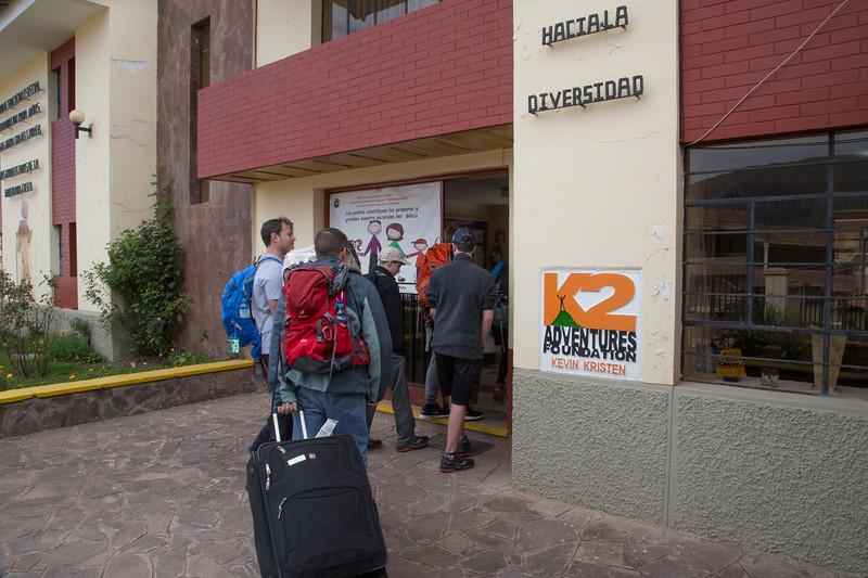 Community service at Senora del Carmen School
