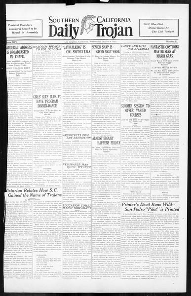 Daily Trojan, Vol. 16, No. 61, March 04, 1925