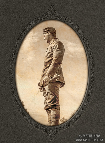 Portrait of WWI Soldier    Photography by Wayne Heim