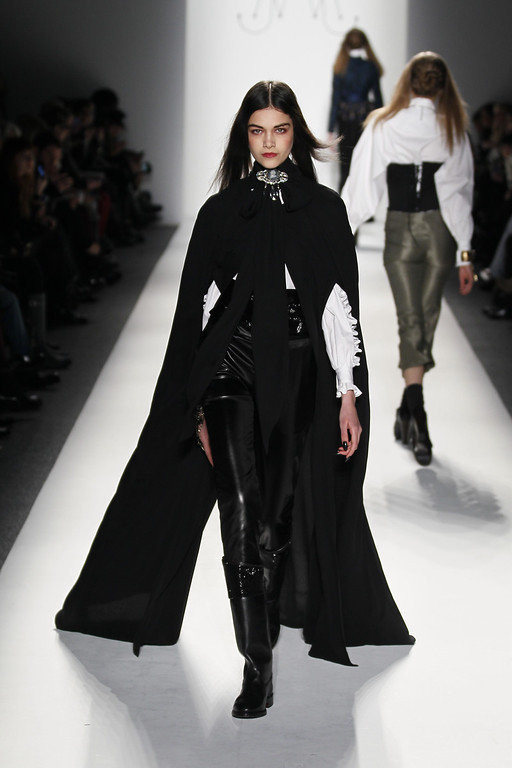 . NEW YORK, NY - FEBRUARY 09:  A model walks the runway at the Ruffian Fall 2013 fashion show during Mercedes-Benz Fashion Week at The Studio at Lincoln Center on February 9, 2013 in New York City.  (Photo by Peter Michael Dills/Getty Images for Mercedes-Benz Fashion Week)