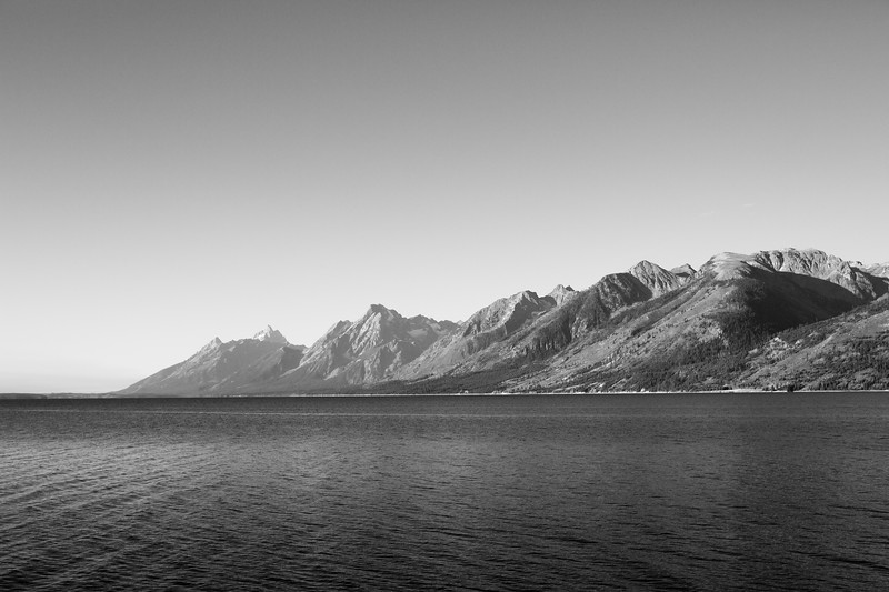 Grand Teton National Park in B&W