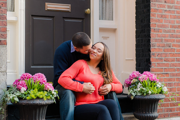Acorn Street and Piers Park Engagement: Holly & Luis