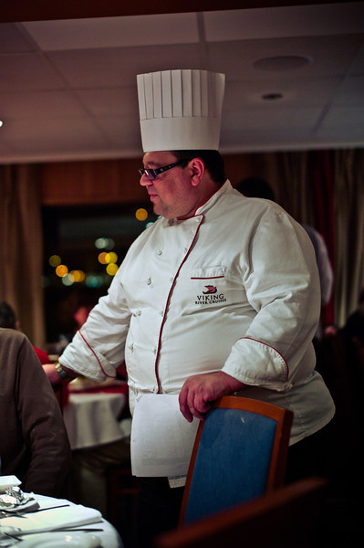 The head chef on the ship