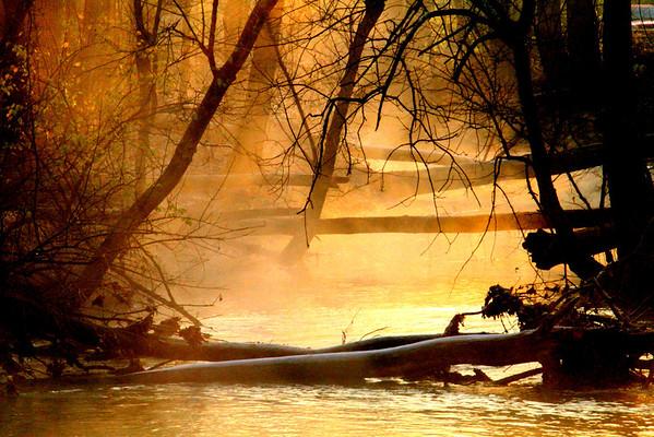 Sunrise At Huffman Lake & Mad River