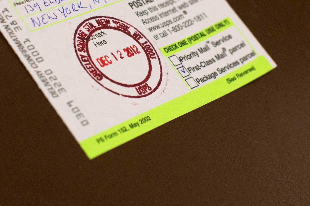 . A U.S. Postmark displays the date in New York December 12, 2012. The date, written as 12/12/12 is the last major numerical date using the Gregorian or Christian calendar for almost another century. REUTERS/Andrew Kelly