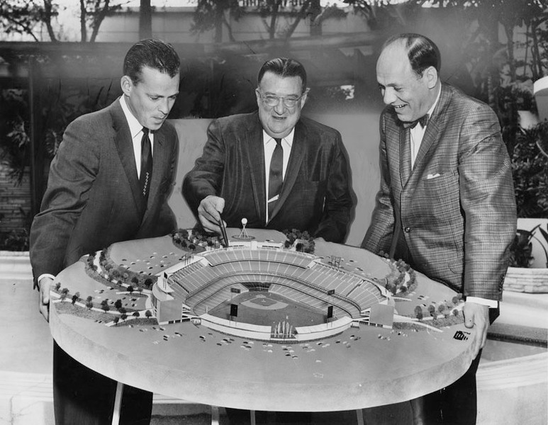 1960, O'Malley and Dodger Stadium Model