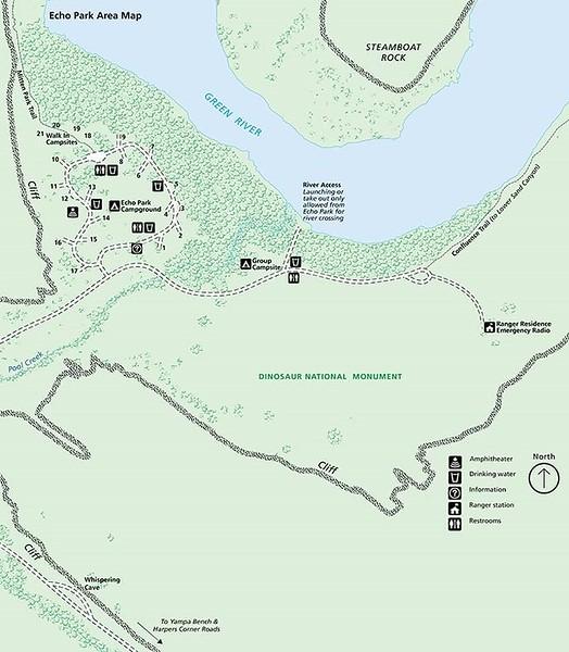 Dinosaur National Monument (Echo Park Campground)