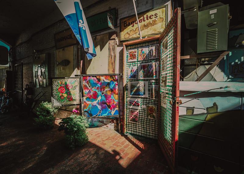 Martello Alley in Sunlight, Kingston Ontario