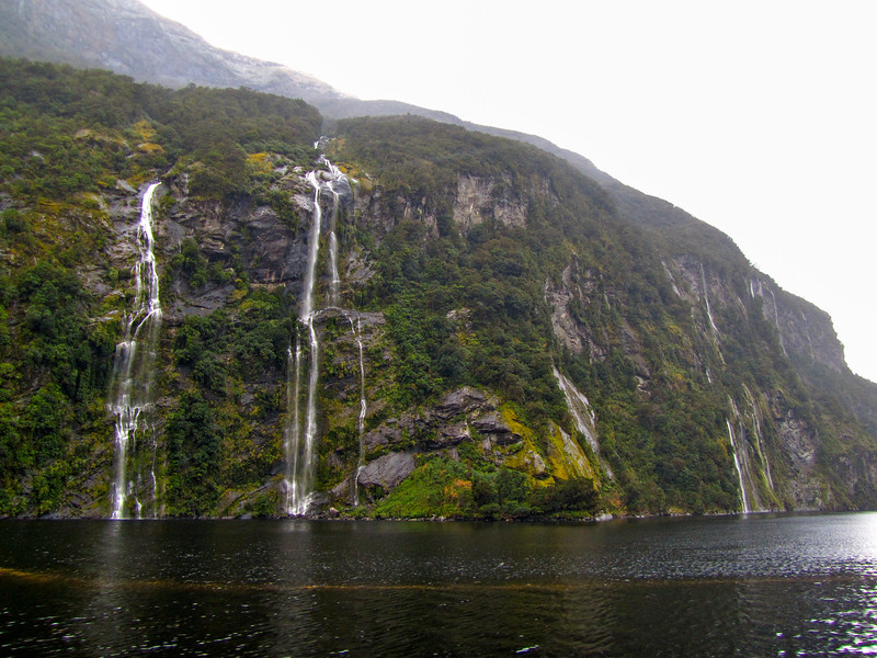 Waterfalls in Doubtful Sound