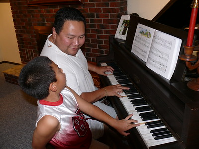 2010-10-29 AJ & Dad on the Piano