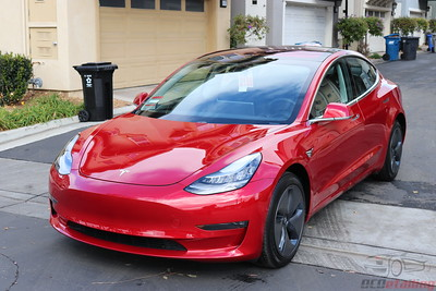 Tesla Model 3 - Red Multi-Coat 4