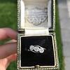 .80ctw Antique English 3-Stone Peruzzi Cut Diamond Ring 8