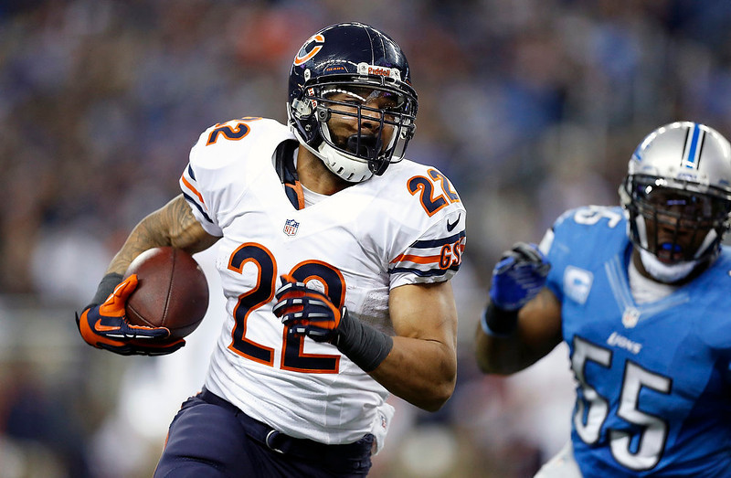 . Chicago Bears running back Matt Forte (22) runs during the second quarter of an NFL football game against the Detroit Lions at Ford Field in Detroit, Sunday, Dec. 30, 2012. (AP Photo/Rick Osentoski)