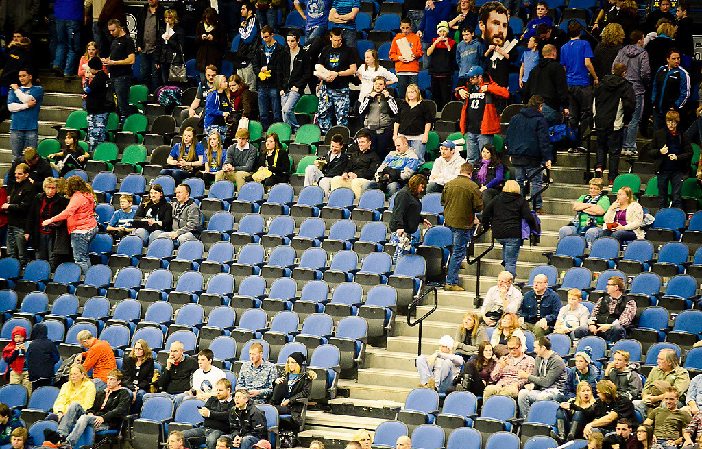 . Fans fled the game early in the fourth quarter. (Pioneer Press: Ben Garvin)