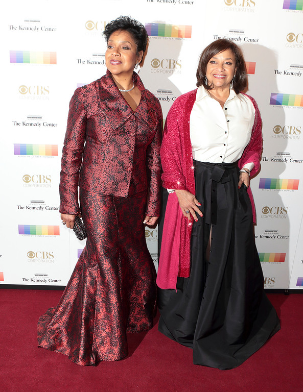 . Phylicia Rashad, left, Debbie Allen attend the 39th Annual Kennedy Center Honors at The John F. Kennedy Center for the Performing Arts on Sunday, Dec. 4, 2016, in Washington, D.C. (Photo by Owen Sweeney/Invision/AP)