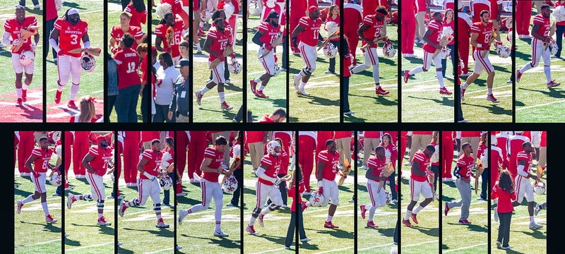 Hail the UH Cougar Seniors.   Left to right, top, then bottom: Bonner, Chevis, Doubenmier, Harvey, Hines, Jackson,  Jefferson, Lemore Leslie, McDowell, McLemore, Mix, Oliver,  Postma, Tynes, Thurman, Williams, Dunbar, Birden, Leday