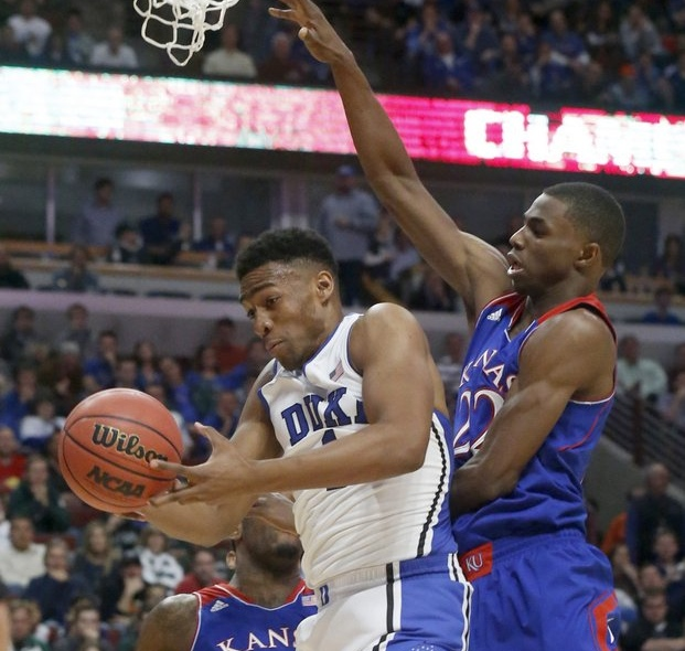 ". <p>4. ANDREW WIGGINS & JABARI PARKER <p>Their college careers are going to be some of the best weeks of their lives. (unranked) <p><b><a href=\'http://www.usatoday.com/story/sports/ncaab/2013/11/13/andrew-wiggins-seals-kansas-victory-over-jabari-parker-duke/3513551/\' target=""_blank\""> HUH?</a></b> <p>    (AP Photo/Charles Rex Arbogast)"