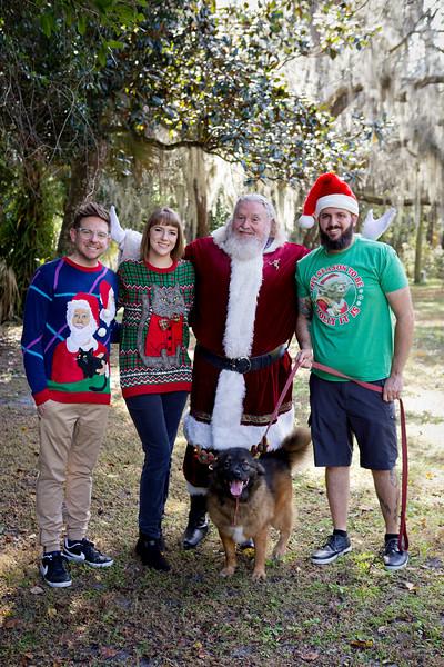 Santa Minis 2018: Dan, Will, Dana, and Koda!