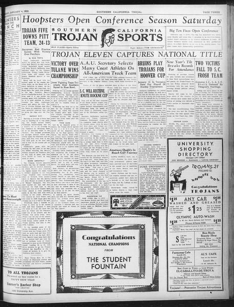 Daily Trojan, Vol. 23, No. 66, January 04, 1932