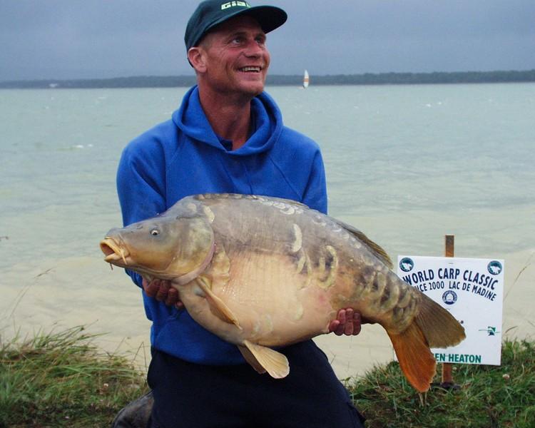 WCC00-winners-2 - Paul Watts holding carp by lake